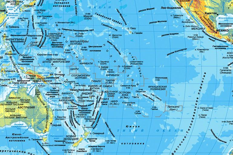 Хребты Тихого океана