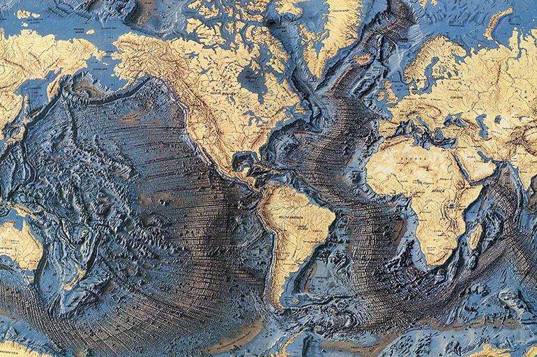 Карта рельефа